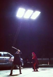 On the set of ARC Angel: Kalina