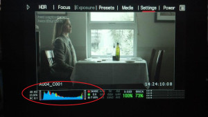 "Internal meters on the Red Epic - histogram, ""goal posts"" and ""stoplights"""