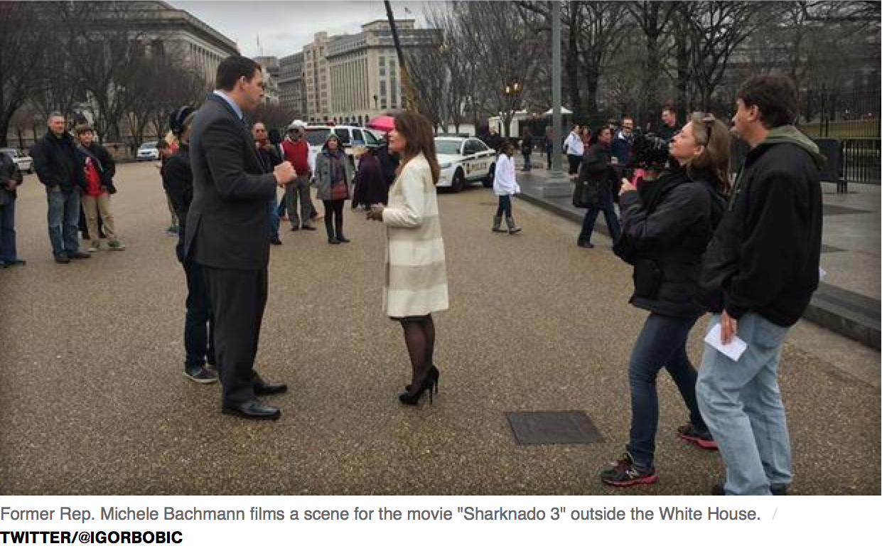 Sharknado 3 with Michelle Bachmann Dir. Anthony Ferrante DP Laura Beth Love