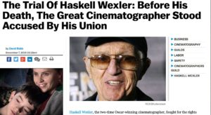 Haskell Wexler Local 600 Cinematographer