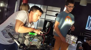 Student Cameramen at Nu Boyana Film School - LB Love DP Mentor